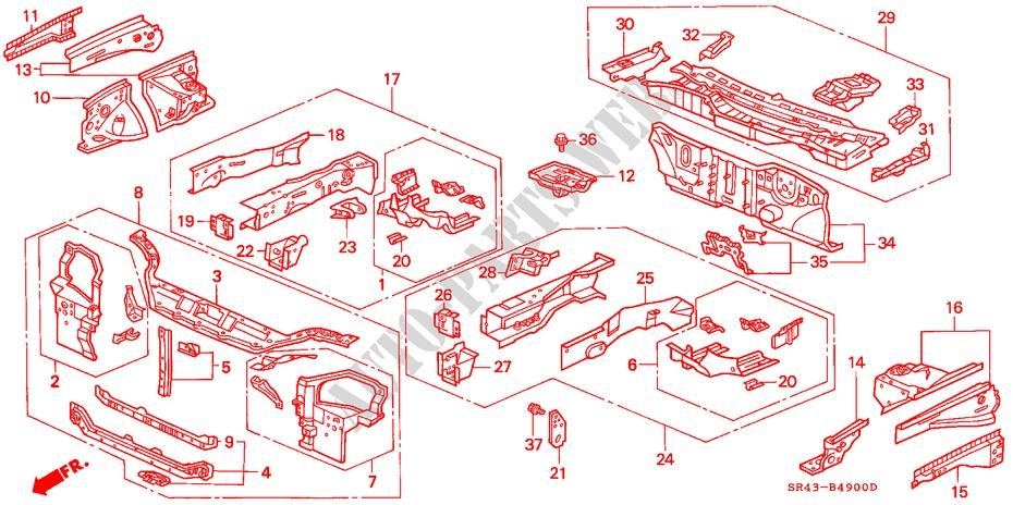 Genuine Honda 61178-SR0-A00ZZ Dashboard Extension