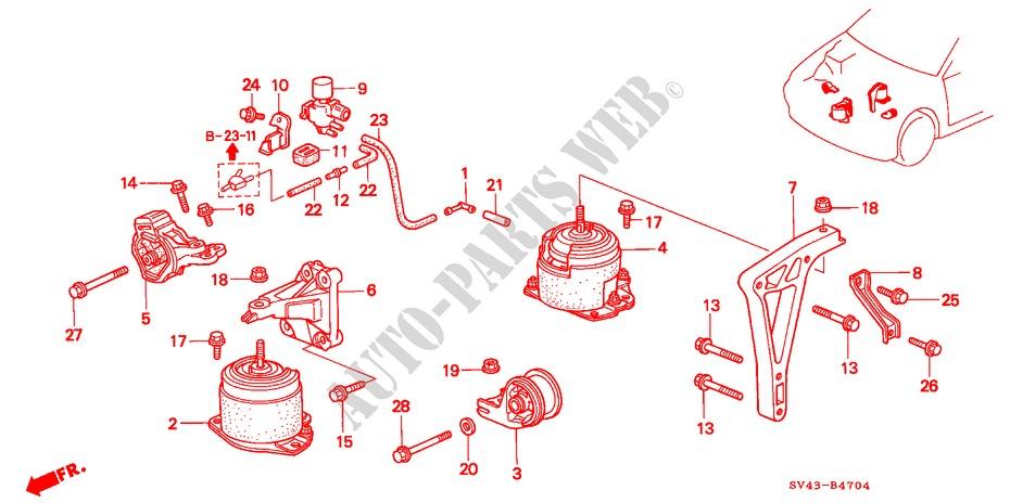 Genuine Honda 50827-SV7-A00 Engine Mounting Bracket
