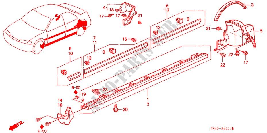 Buick Park Avenue 1997-2005 PartsChannel GM2520157N OE Replacement Side Marker Light