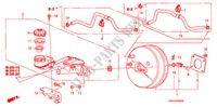 BRAKE MASTER CYLINDER/ MASTER POWER (KA/KC) STEERING, BRAKE, SUSPENSION CIVIC honda-cars 2008 EX-L B__2400