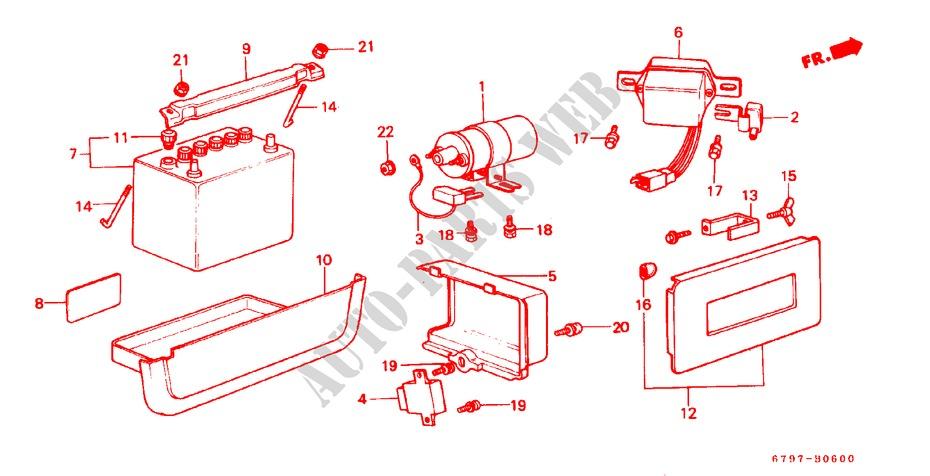 Battery  Ignition Coil   Regulator For Honda Cars Acty Truck