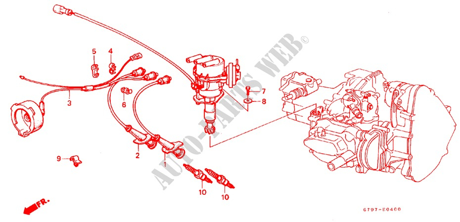 Engine Electrical  1  For Honda Cars Acty Truck Dx 2 Doors