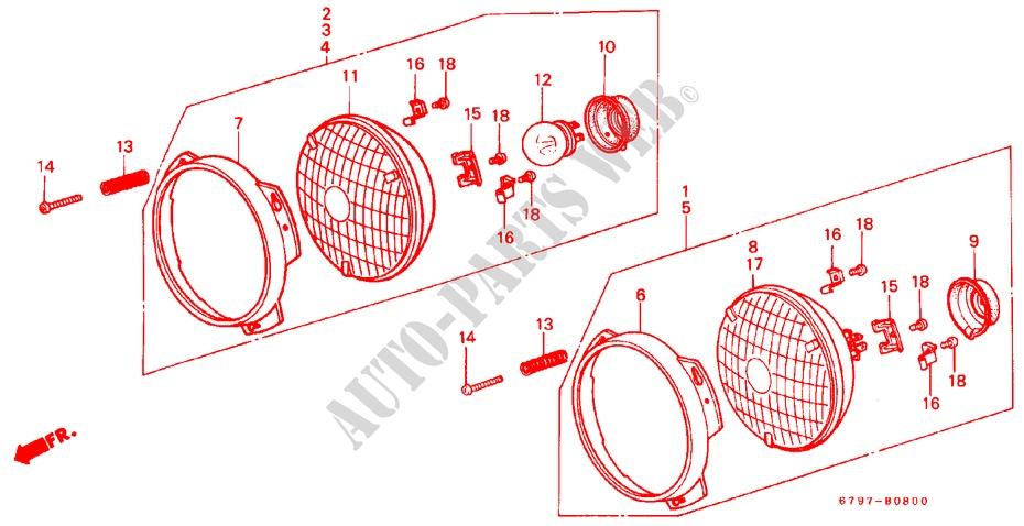 Headlight For Honda Cars Acty Truck Dx 2 Doors 4 Speed