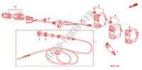 CHOKE CABLE/SWITCH ELECTRICAL EQUIPMENTS, EXHAUST, HEATER ACTY VAN honda-cars 1983 DX PANEL VAN B__1100