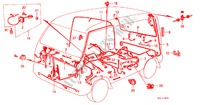 WIRE HARNESS ELECTRICAL EQUIPMENTS, EXHAUST, HEATER ACTY VAN honda-cars 1983 DX PANEL VAN B__0700