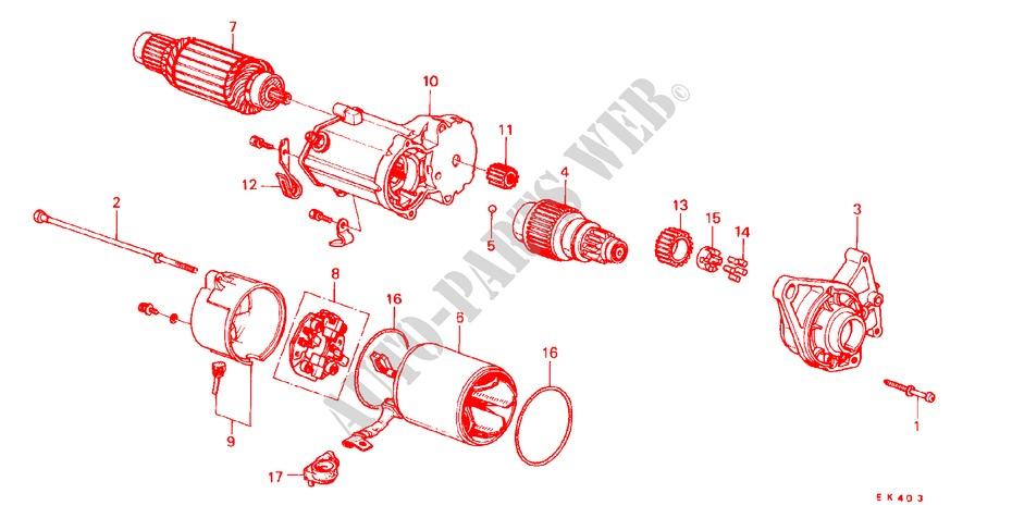 Genuine Honda 31207-PC2-016 Armature