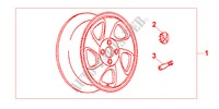 ALLOY WHEEL 15X6JJ for Honda Cars CIVIC COUPE 1.6ILS 2 Doors 4 speed automatic 2000
