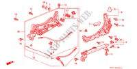 FRONT SEAT COMPONENTS (L.)(RH) for Honda Cars CIVIC COUPE 1.6ILS 2 Doors 4 speed automatic 2000