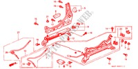 FRONT SEAT COMPONENTS (R.)(LH) for Honda Cars CIVIC COUPE EX 2 Doors 5 speed manual 2000