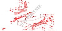 FRONT SEAT COMPONENTS (R.)(RH) for Honda Cars CIVIC COUPE 1.6ILS 2 Doors 4 speed automatic 2000