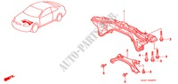 REAR BEAM for Honda Cars CIVIC COUPE 1.6ILS 2 Doors 4 speed automatic 2000