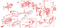 DOOR LOCKS for Honda Cars CIVIC 1.4I 3 Doors 5 speed manual 1997