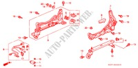 FRONT SEAT COMPONENTS (L.) (LH) (1) for Honda Cars CIVIC 1.4I 3 Doors 5 speed manual 1997