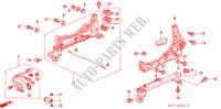 FRONT SEAT COMPONENTS (L.) (LH) (2) for Honda Cars CIVIC 1.4I 3 Doors 5 speed manual 1997