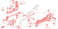 FRONT SEAT COMPONENTS (R.) (LH) (3) for Honda Cars CIVIC 1.4I 3 Doors 5 speed manual 1997