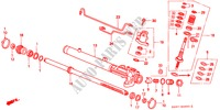 POWER STEERING GEAR BOX COMPONENTS (LH) for Honda Cars CIVIC 1.4I 3 Doors 5 speed manual 1997