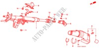 STEERING COLUMN for Honda Cars CIVIC 1.4I 3 Doors 5 speed manual 1997
