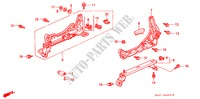 FRONT SEAT COMPONENTS (1) (L.) for Honda Cars CIVIC 1.5ILS 4 Doors 4 speed automatic 1999
