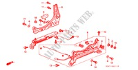 FRONT SEAT COMPONENTS (2) (R.) for Honda Cars CIVIC 1.5ILS 4 Doors 4 speed automatic 1999