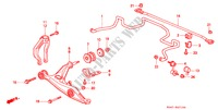 FRONT STABILIZER/ FRONT LOWER ARM for Honda Cars CIVIC 1.5ILS 4 Doors 4 speed automatic 1999