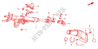 STEERING COLUMN for Honda Cars CIVIC 1.5ILS 4 Doors 4 speed automatic 1999