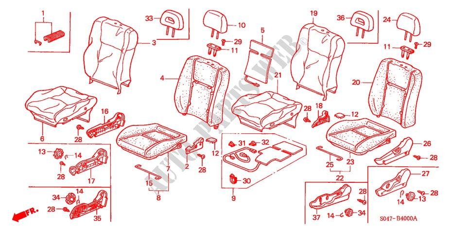 Honda Genuine 81144-SH3-003ZQ Headrest Guide