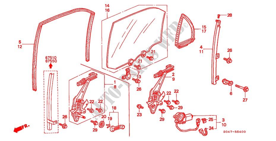 Rear Door Windows For Honda Cars Civic 1 6vti 4 Doors 5