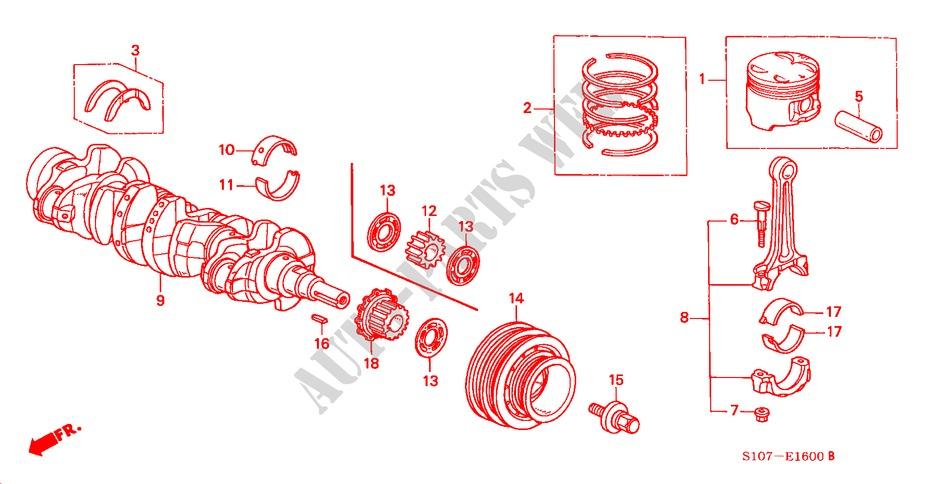 Genuine Honda 13214-PR4-A02 Connecting Rod Bearing