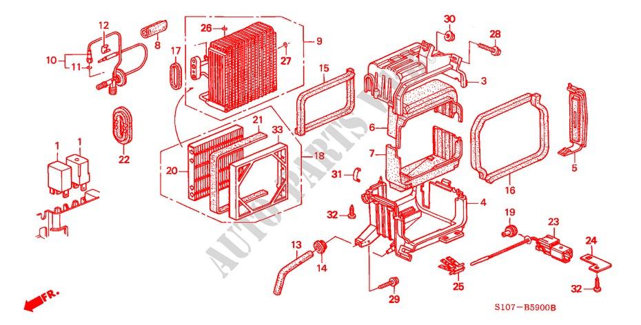 AIR CONDITIONER (COOLING UNIT)(LH) for Honda Cars CR-V RVSI 5 Doors
