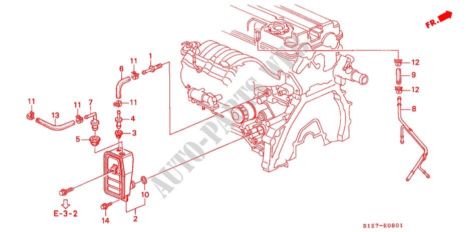 Breather Chamber  Dohc  For Honda Cars Civic Aerodeck Vti