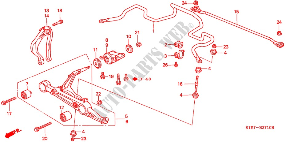 Front Stabilizer   Front Lower Arm For Honda Cars Civic