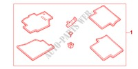 FLOOR CAR*NH167L* for Honda Cars ACCORD 1.6IS 4 Doors 5 speed manual 2002