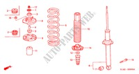 REAR SHOCK ABSORBER for Honda Cars ACCORD 1.6IS 4 Doors 5 speed manual 2002