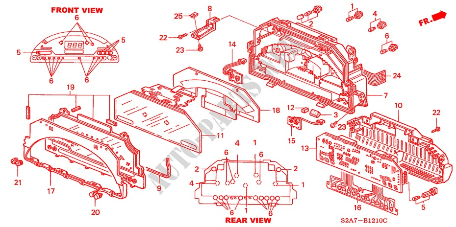 Meter Components  Ns     U0026 39 03  For Honda Cars S2000 S2000 2 Doors 6 Speed Manual 2002   Honda Cars