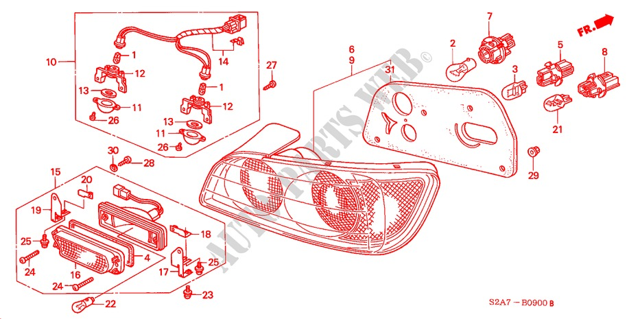 taillight 03 electrical equipments exhaust heater s2000