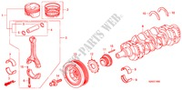 PISTON/CRANKSHAFT ENGINE S2000 honda-cars 2008 BASE E__1600