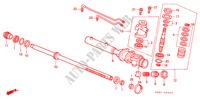 POWER STEERING GEAR BOX COMPONENTS (LH) for Honda Cars HR-V 4WD 3 Doors 5 speed manual 1999