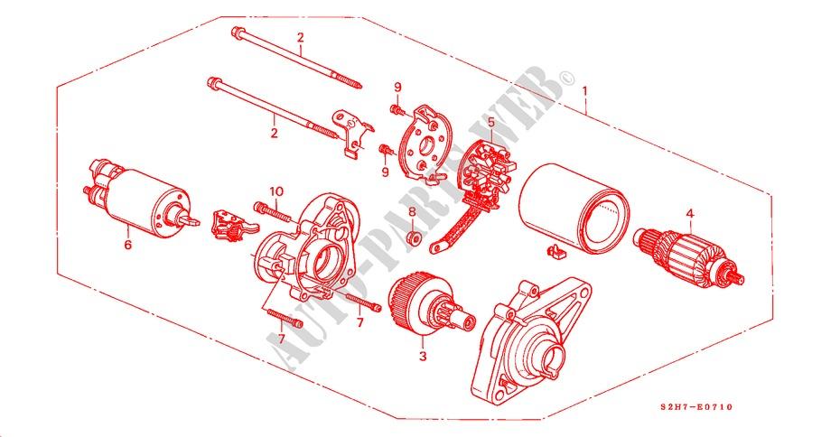 Starter motor mitsuba engine 4wd 2001 hr v honda cars for Mitsuba motor solar car