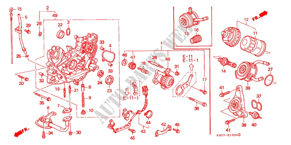 Oil Pump  Oil Strainer For Honda Cars Prelude 2 2vti 2