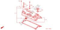 CYLINDER HEAD COVER (1.6L) for Honda Cars ACCORD 1.6IS 5 Doors 5 speed manual 2002