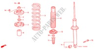 REAR SHOCK ABSORBER for Honda Cars ACCORD 1.6IS 5 Doors 5 speed manual 2002