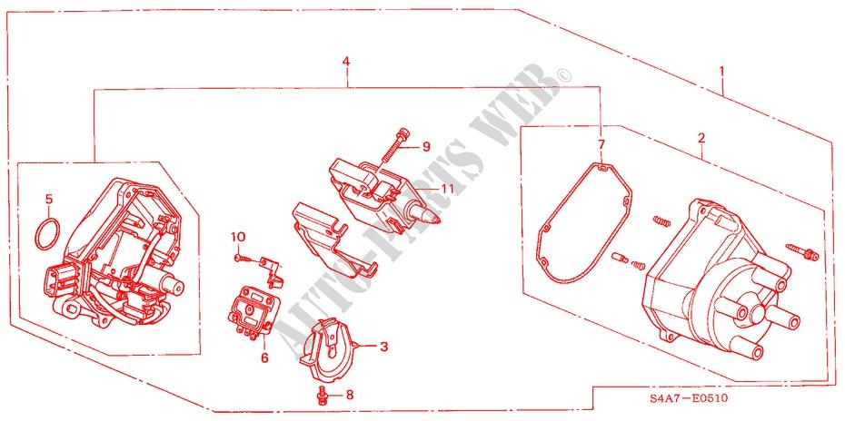distributor hitachi engine 23ies 2002 accord honda cars honda rh parts honda uk Honda Civic Sensor Diagram 90 Honda Distributor Diagram