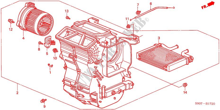 Heater Unit  Lh  For Honda Cars Logo Logo 3 Doors 5 Speed Manual 1999   Honda Cars