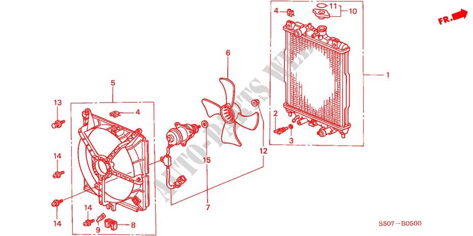 Radiator Electrical Equipments Exhaust Heater Logo 1999 Logo Honda