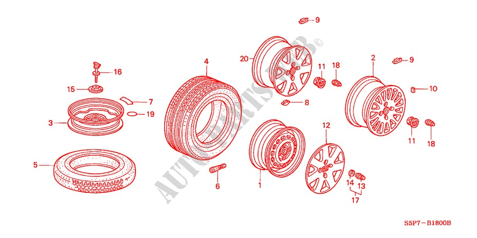 Tire  Wheel Disks For Honda Cars Civic Coupe Es 2 Doors 5