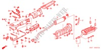 EXHAUST PIPE/SILENCER (TYPE R) ELECTRICAL EQUIPMENTS, EXHAUST, HEATER CIVIC honda-cars 2004 TYPE R B__0201