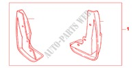 FRONT MUDGUARD for Honda Cars CIVIC TYPE R     PREMIUM 3 Doors 6 speed manual 2004