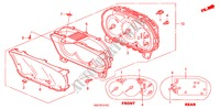 METER COMPONENTS (NS) (1) ELECTRICAL EQUIPMENTS, EXHAUST, HEATER CIVIC honda-cars 2004 TYPE R B__1210
