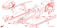 MOLDING/SIDE SILL GARNISH for Honda Cars CIVIC TYPE R     PREMIUM 3 Doors 6 speed manual 2004