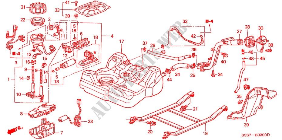 Fuel Tank For Honda Cars Civic Type R 3 Doors 6 Speed